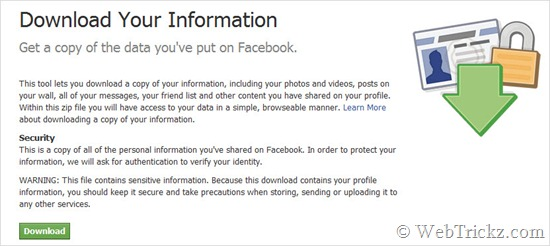 Download Your Information_facebook