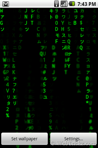 Best Matrix Live Wallpaper