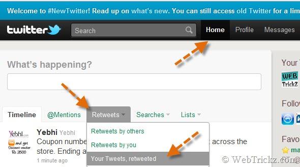 find retweeted tweets_new twitter