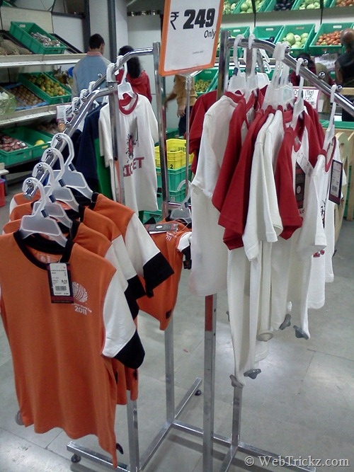 ICC Cricket World Cup 2011 T-shirts at Big Bazaar