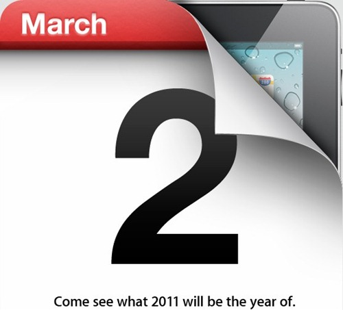 apple ipad 2 event invite