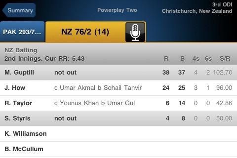 Yahoo! Cricket_scorecard
