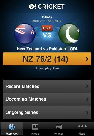 Yahoo! Cricket_matches