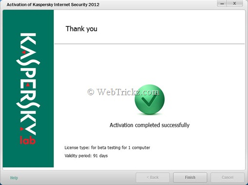 Kaspersky Internet Security 2012_91 days trial