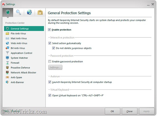 Kaspersky Internet Security 2012_settings