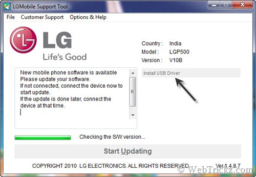 LG Mobile Support Tool