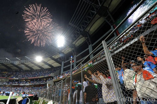 fireworks at stadium