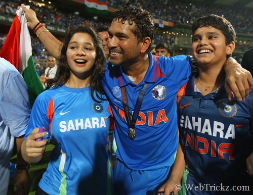 Sachin's daughter Sara and son Arjun
