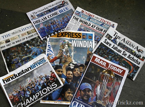 Next day newspapers in India
