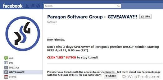 Paragon_facebook giveaway