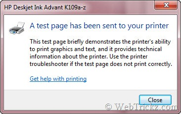 test page_dialog box