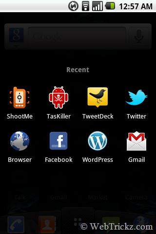 Recent apps_android