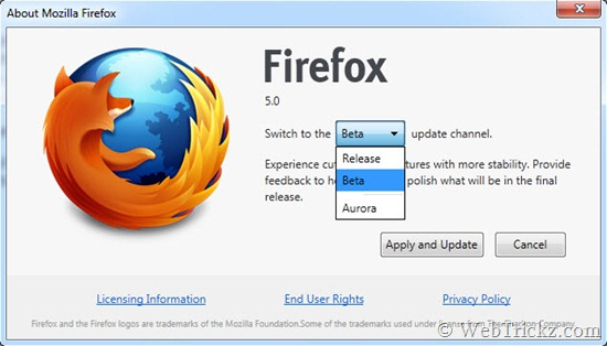 firefox_change update channel