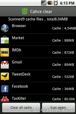 clear cache_apps