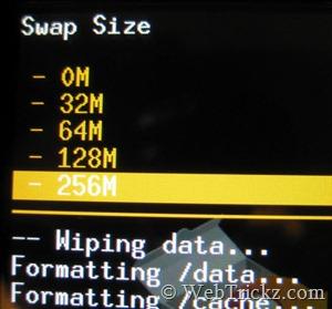 Swap size