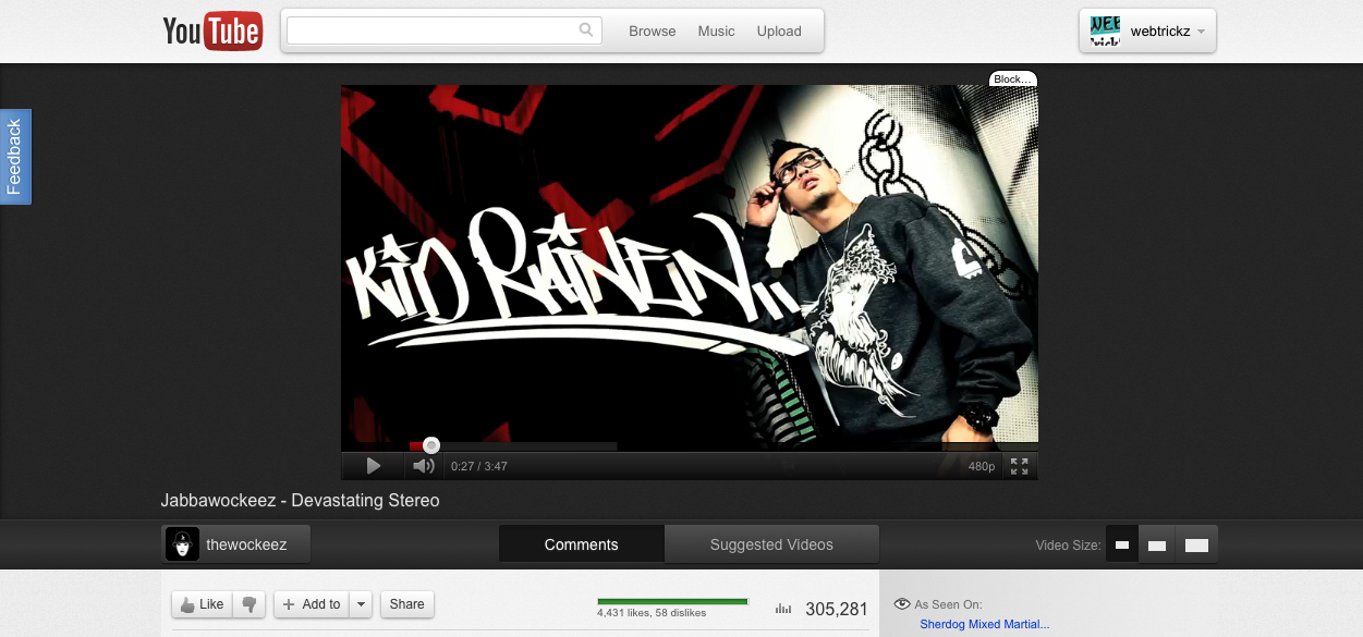 youtube new cosmic panda design