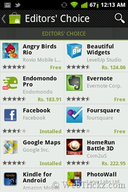new Android market_editorschoice