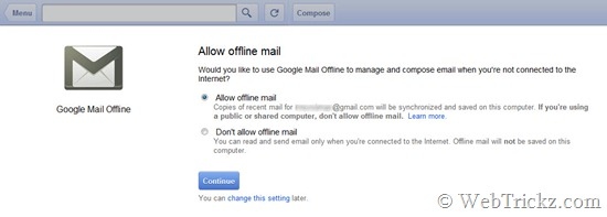 Offline Gmail App_chrome