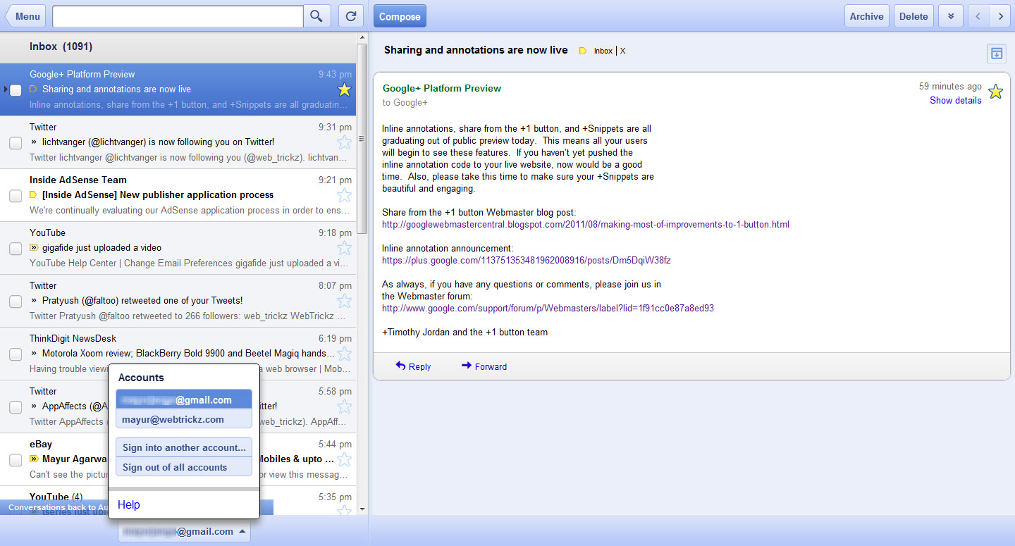 Offline Gmail, Google Docs, and Calendar comes to Google Chrome [Gmail ...