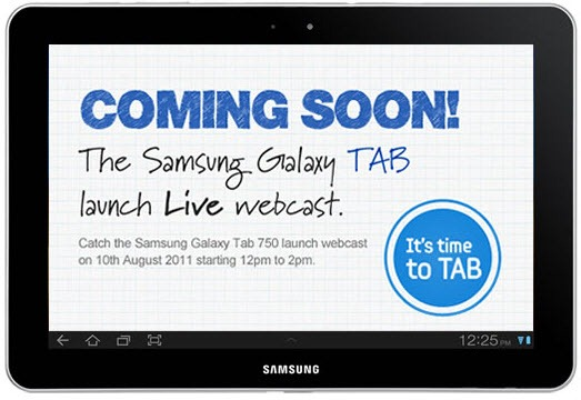 Samsung Galaxy Tab 750 Launch - LIVE Webcast