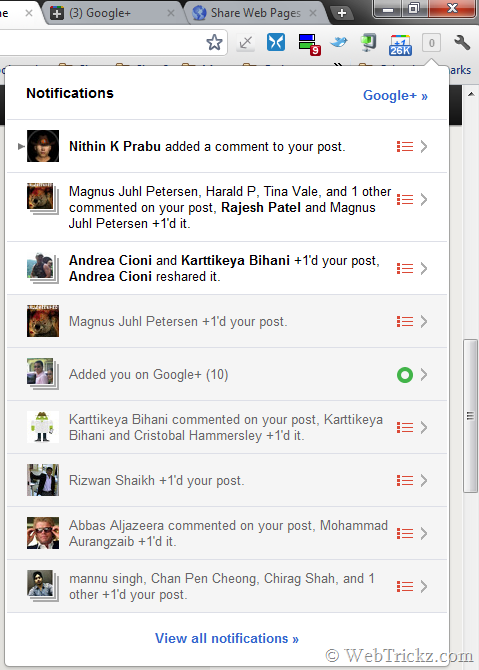 Google+ Notifications_chrome