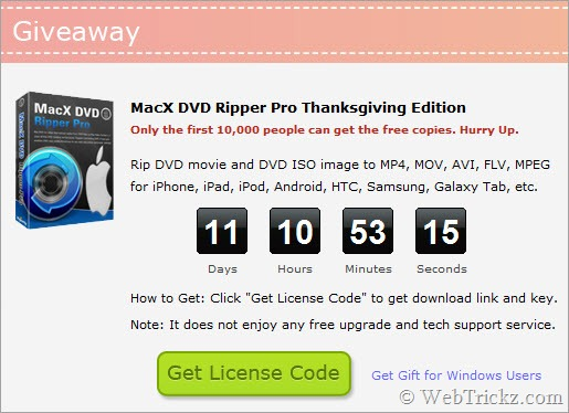 MacX DVD Ripper Pro Thanksgiving Edition