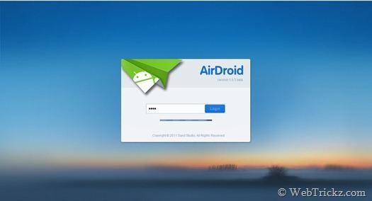 airdroid_login webpage