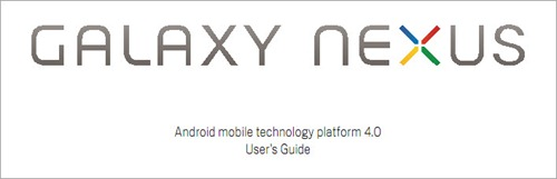 Galaxy Nexus User Guide