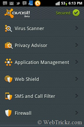 avast Mobile Security Beta