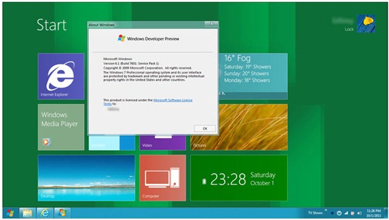 Windows 8 TP_Windows 7 Metro UI