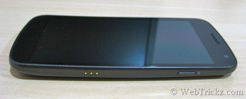 Galaxy Nexus right side view
