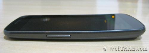 Galaxy Nexus left side view