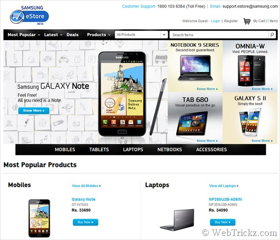 Samsung India eStore - Official online store