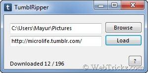 TumblRipper - Download tumblr photos