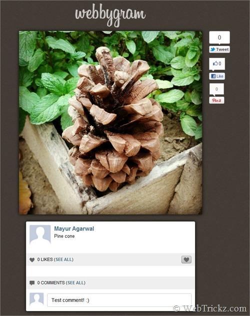 Webbygram - Instagram for web