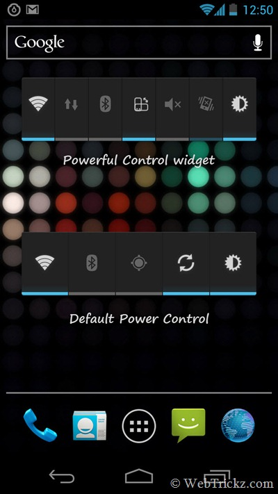 Powerful control widget vs Power control widget