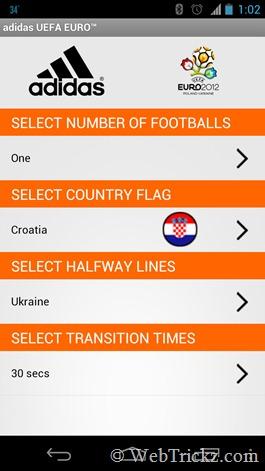 adidas UEFA Euro settings