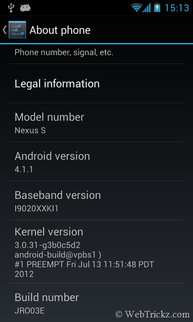 nexus s android 4.1.1_about phone
