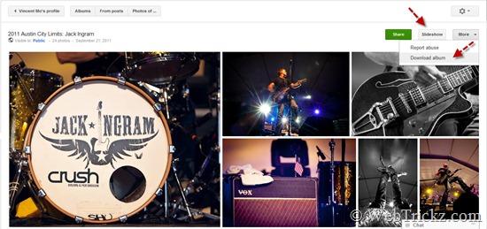 Google-plus_photos slideshow and download album