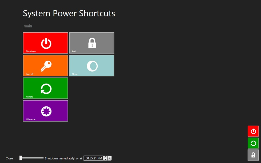 how to add shutdown option in windows 8