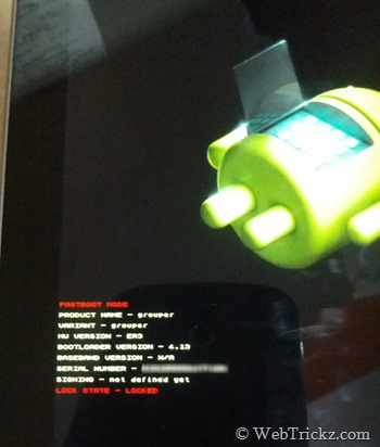Factory recovery mode android
