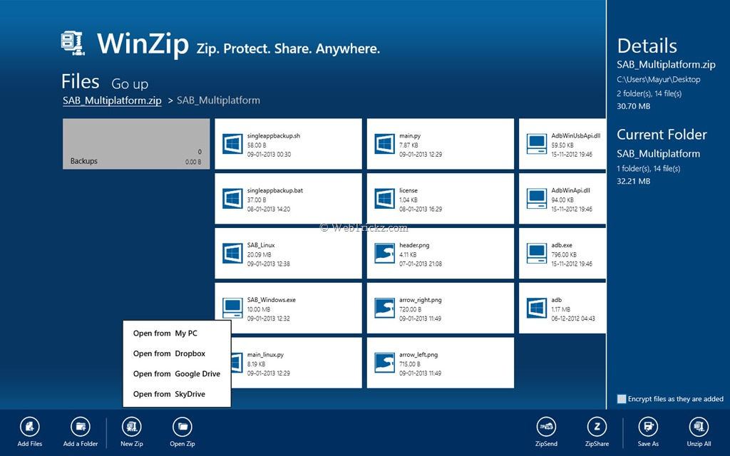 how to open zip files on pc without winzip