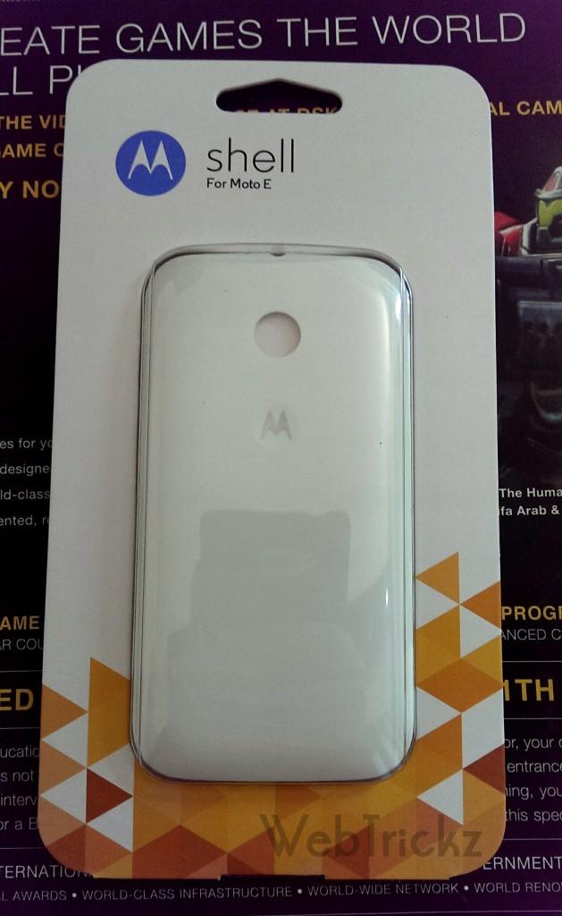 Moto E white shell