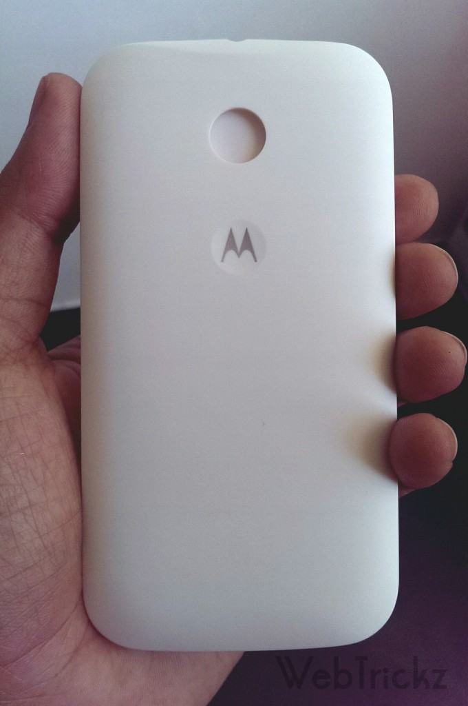 Moto E White Back cover