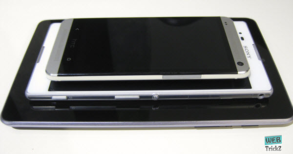 Nexus 7, T2 Ultra and HTC One (M7) Comparison
