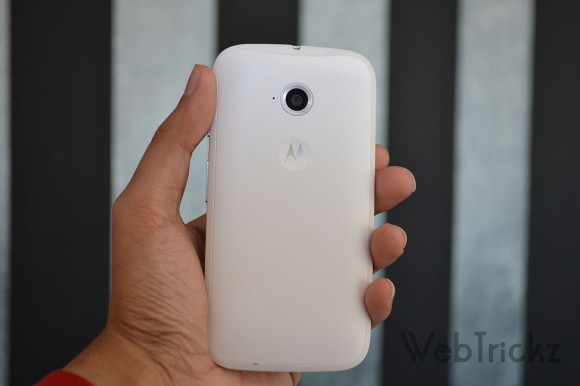 Moto E 2nd Gen White Rear view