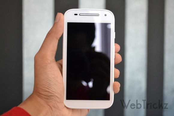 Moto E 2nd Gen White Front view