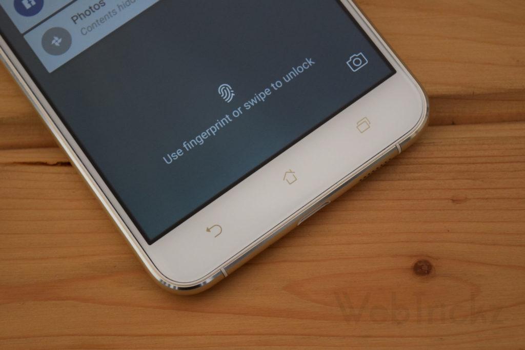 Zenfone 3 Fingerprint sensor