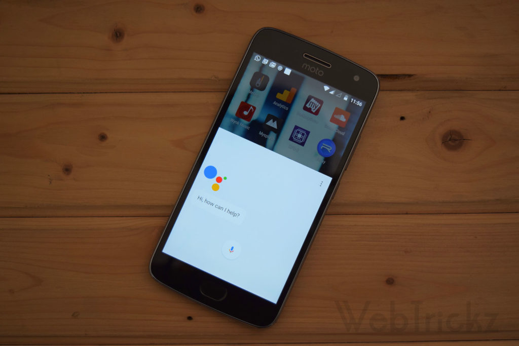 Google Assistant on Moto G5 Plus