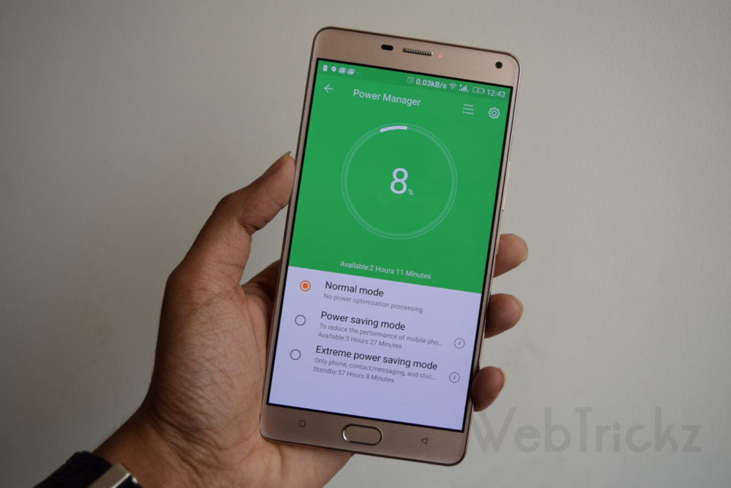 Gionee M5 Plus-battery-saving-modes